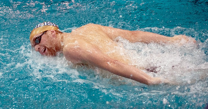Junior John Williamson competes in the 200-yard butterfly at Notre Dame's dual meet against Michigan State on Nov. 15.