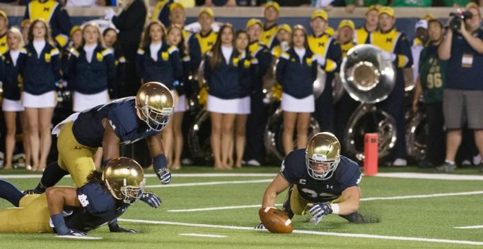 #6 20140906, 2014-2015, 09062014, Amy Ackermann, Football, Michigan vs. Notre Dame, W 31-0-7