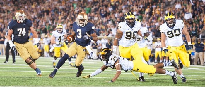 # 8 20140906, 2014-2015, 20140906, by Zach Llorens, Football, michigan, Notre Dame Stadium, Win 31-0-6