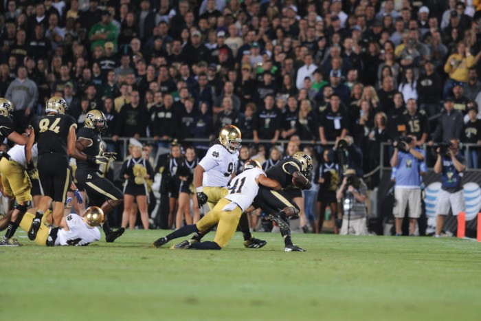 20130914, 2013-2014, 20130914, Away, Football, Oe Kenesey, Purdue, The Observer, Win-2