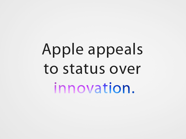 web_apple appeals to status over innovation_9-18-2014
