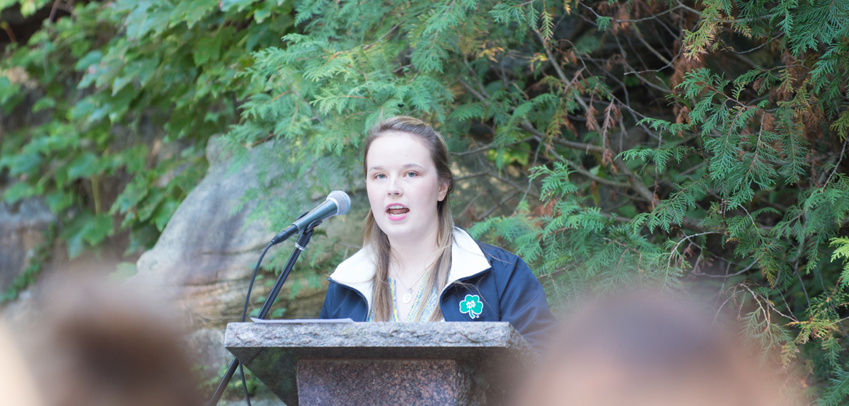 20140922, 20140922, Annmarie Soller, Grotto, Sexual Assault Prayer Service