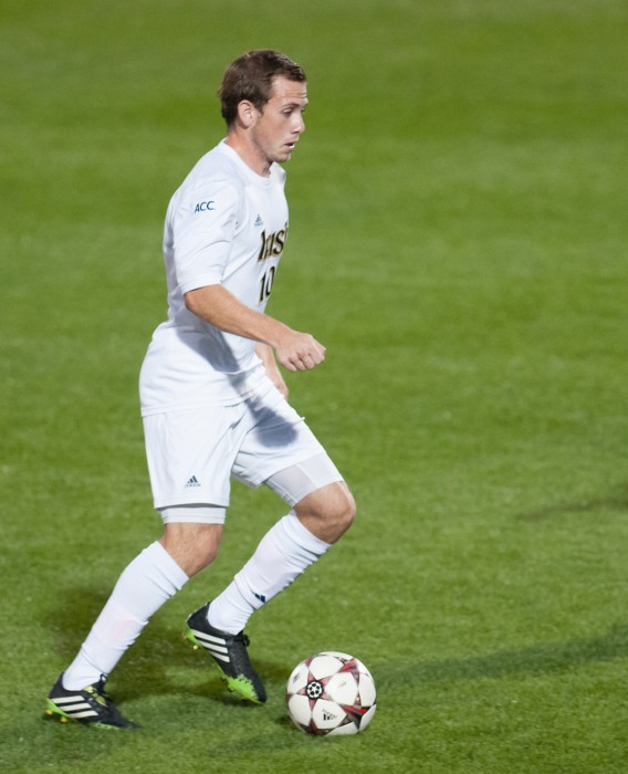 Notre Dame graduate and Chicago Fire midfielder Harry Shipp is finding success in professional soccer.Here Shipp is shown during Notre Dame's 3-1 win over Duke on Sept. 27, 2013, at Alumni Stadium.