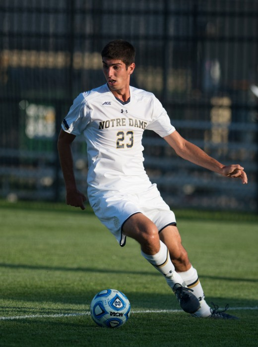 Irish freshman forward Jeffrey Farina makes a cut during Notre Dame's 1-0 home loss to Kentucky on Sept. 8.