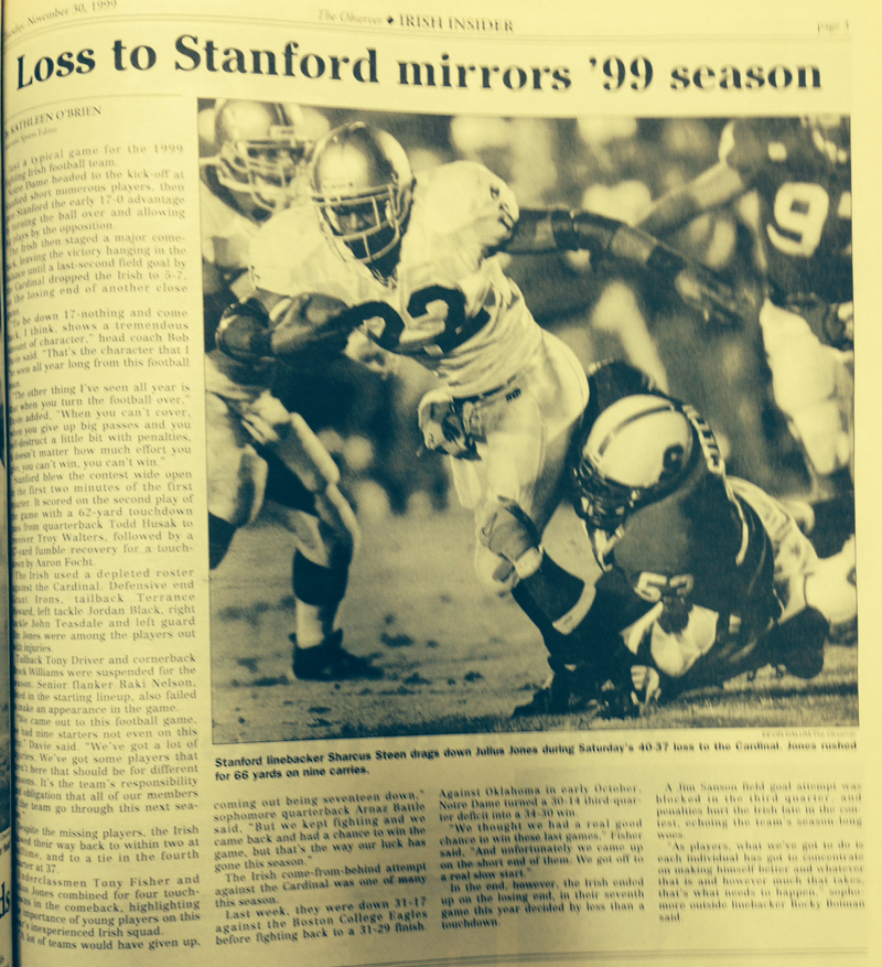 The Observer from Nov. 30, 1999.