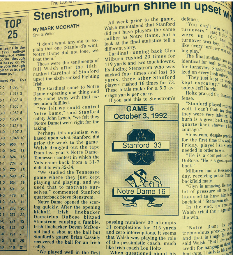 The Observer from 1992.