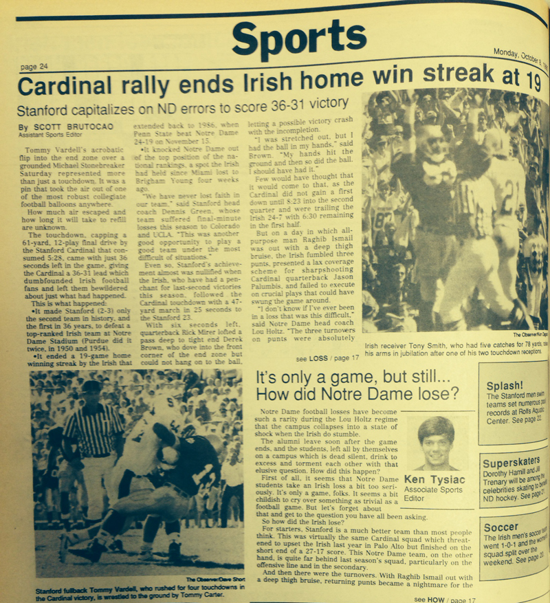 The Observer from Oct. 8, 1990.