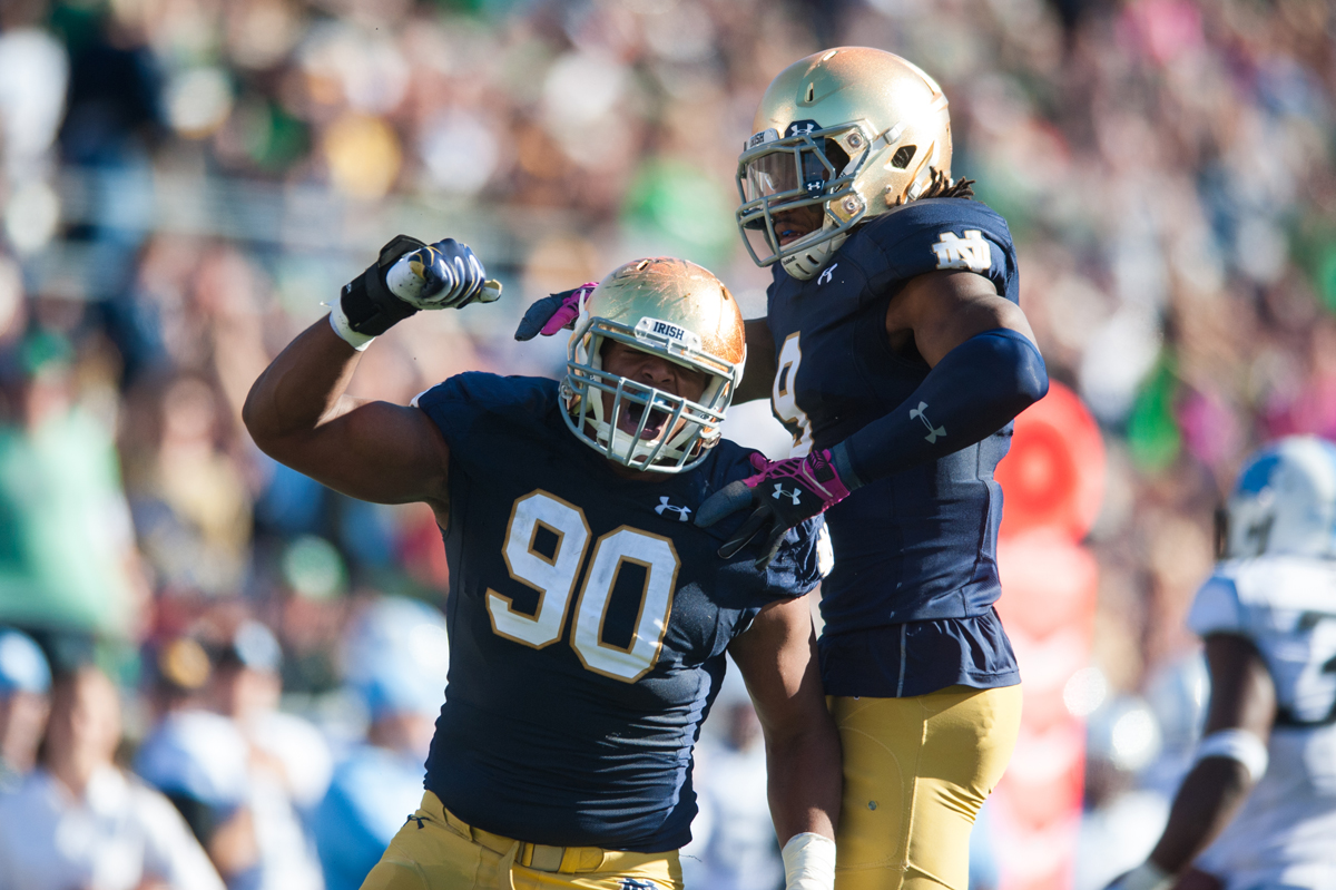 20141011, 20141011, Football, Notre Dame Stadium, vs UNC, Zach Llorens, Zachary Llorens-8