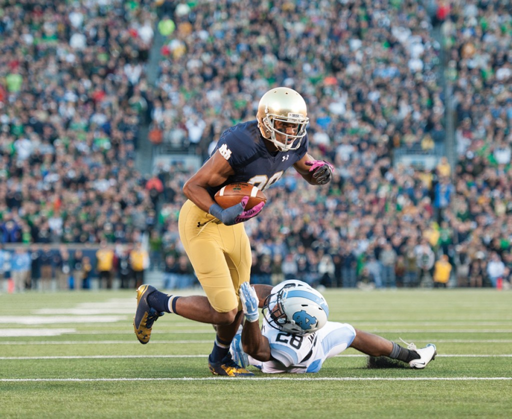 20141011, 20141011, Football, Notre Dame Stadium, vs UNC, Zach Llorens, Zachary Llorens-2