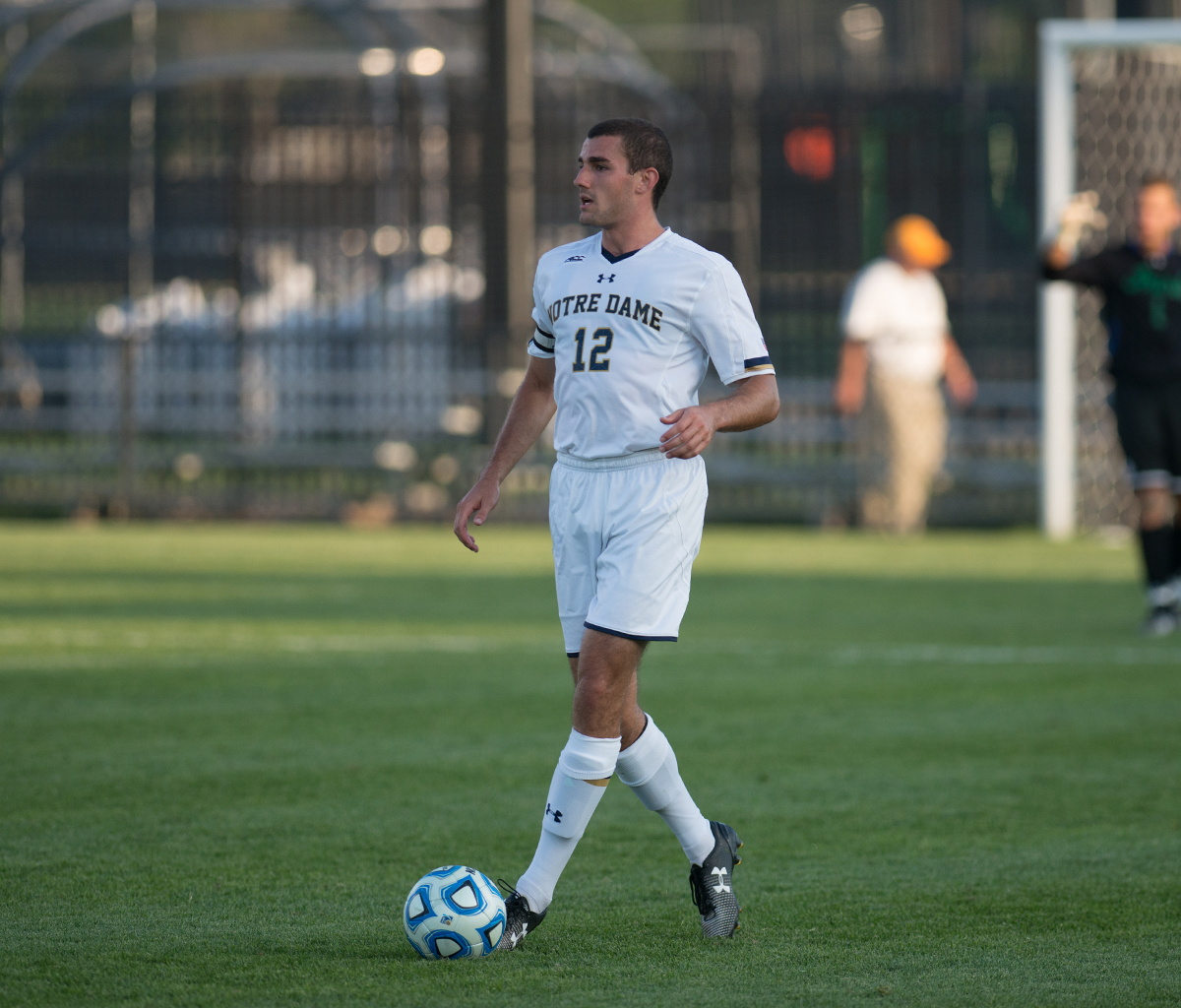 Graduate student defender Andrew O'Malley scans the field during a 1-0 home loss to Kentucky on Sept. 8.