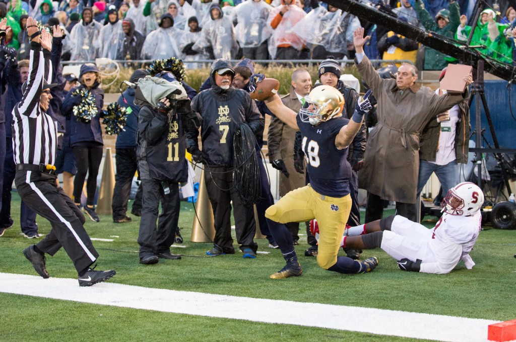 koyack(2), 20141004, 2014-2015, 20141004, Football, Kevin Song, Koyack, Notre Dame Stadium, vs Stanford