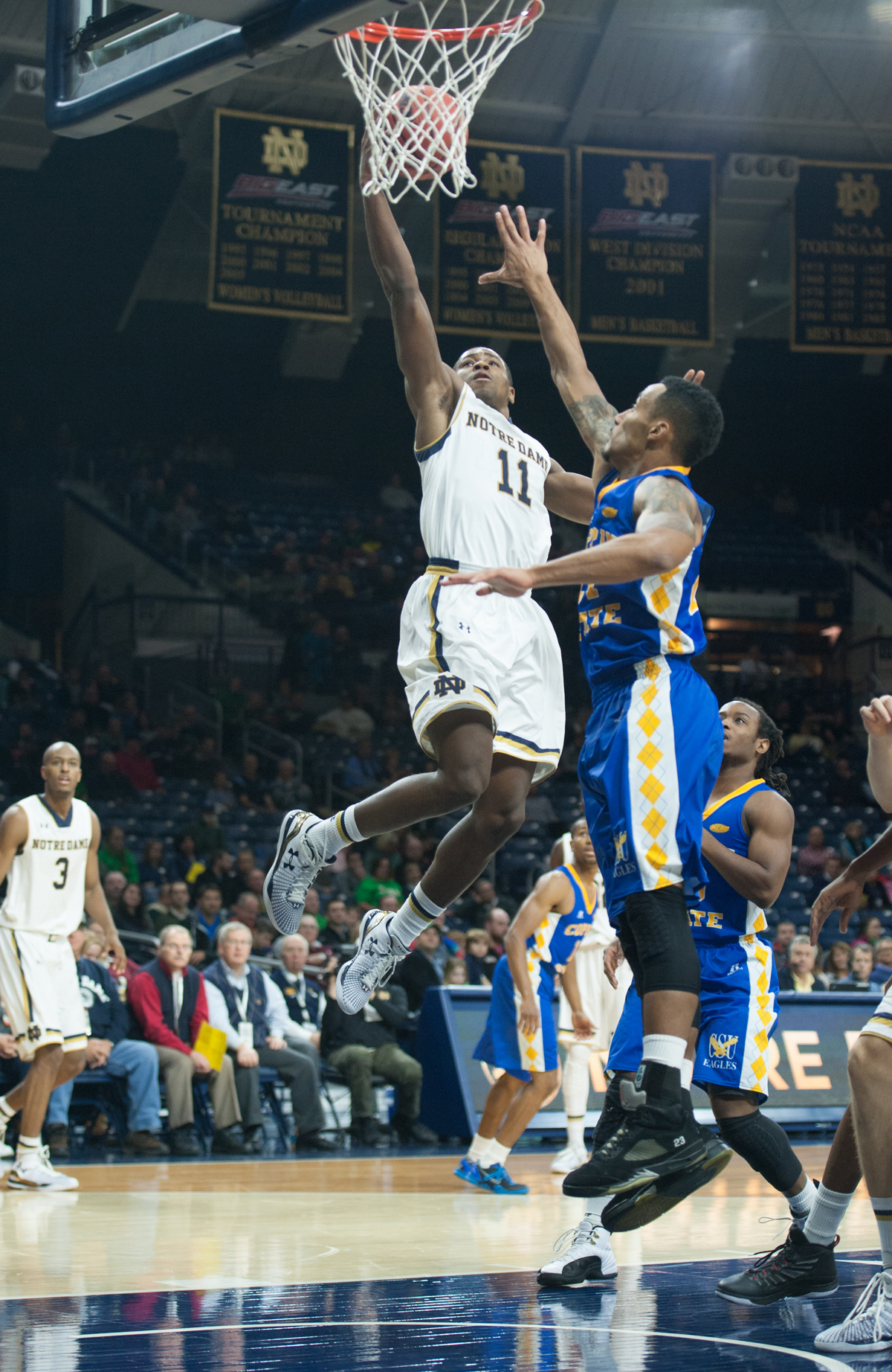 Irish sophomore guard Demetrius Jackson goes up for a score in Notre Dame's 104-67 win over Coppin State on Nov. 19 at Purcell Pavilion.