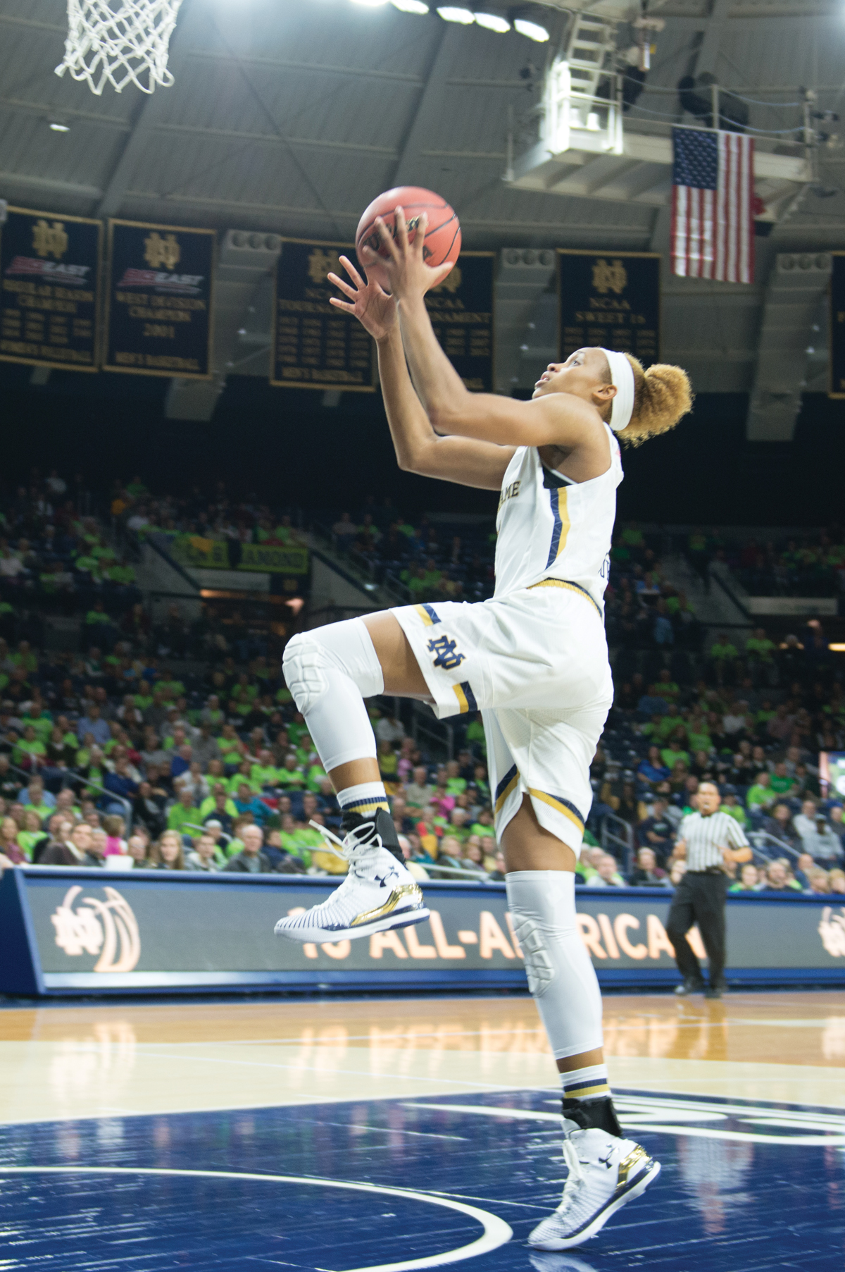 Irish freshman forward Brianna Turner during Notre Dame's 104-29 win over Holy Cross on Nov. 23 at Purcell Pavilion.