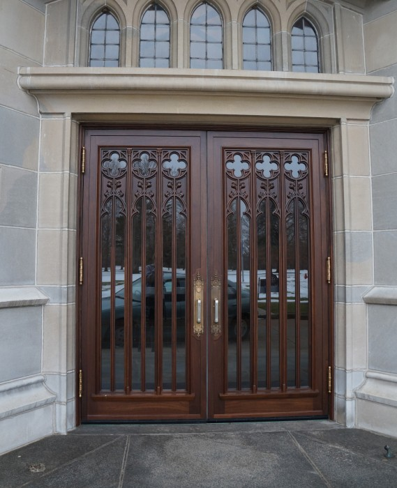 The Le Mans doors, once the entrance to Le Mans Hall at Saint Mary's, will be repaired and placed in the parlor of Haggar Hall.
