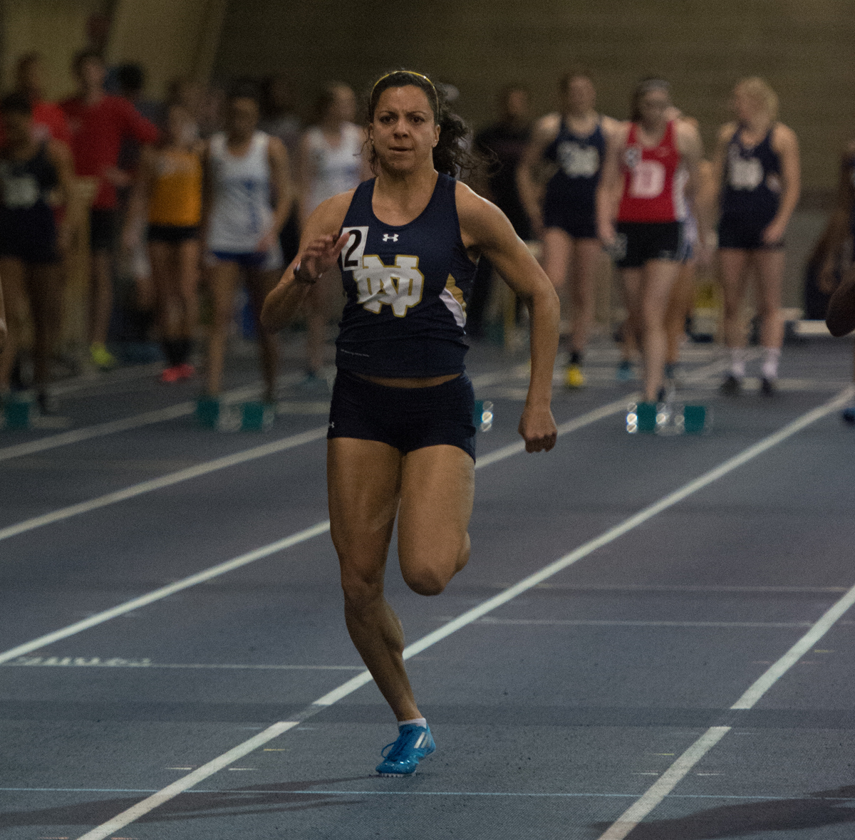 Irish senior sprinter Jade Barber competes in the Blue Gold Invitational on Dec. 5 at Loftus Sports Center.