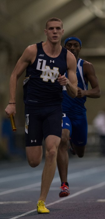 Senior Chris Giesting competes during the Notre Dame Invitational 600m on January 24 at Loftus Sports Center.