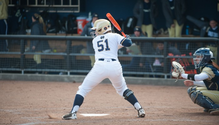 Senior catcher Cassidy Whidden eyes a pitch in the 6-1 win against Georgia Tech on March 21.