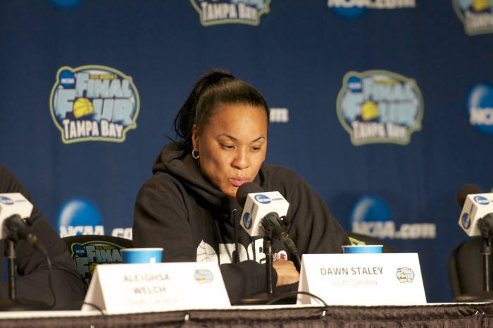 South Carolina head coach Dawn Staley