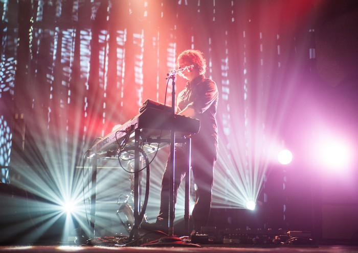 Goo Goo Dolls member Robby Takac plays a song on the keyboard at last year's concert. The concert is a long-standing ND tradition.
