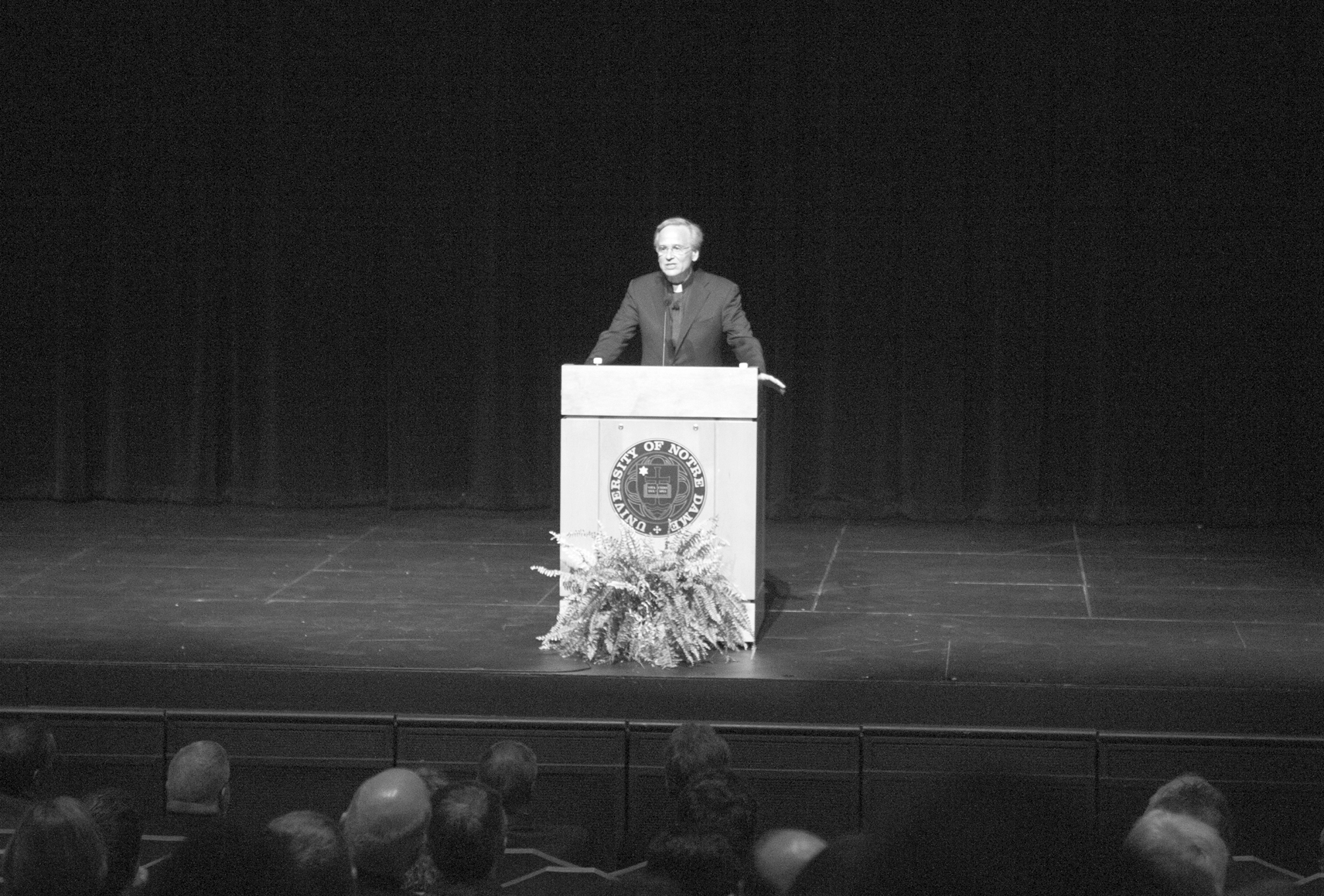 20150915, 20150915, Father Jenkins faculty address, Rosie LoVoi