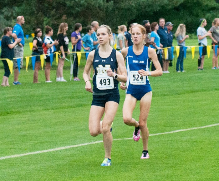 Freshman Annie Heffernan competes at the National Catholic  Championships on Sept. 18 at the Notre Dame Golf Course.