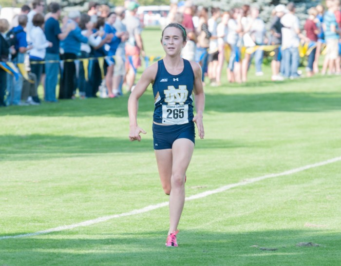 Senior Molly Seidel runs in the National Catholic Championships on Sept. 19, 2014. Seidel won the NCAA championship Friday.
