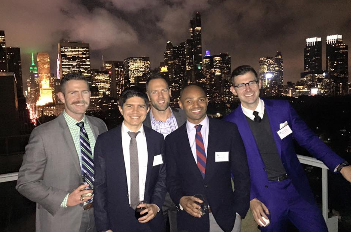Notre Dame alumni attend a fundraising event in New York City in support of LGBTQ student scholarships for Notre Dame and Saint Mary's.