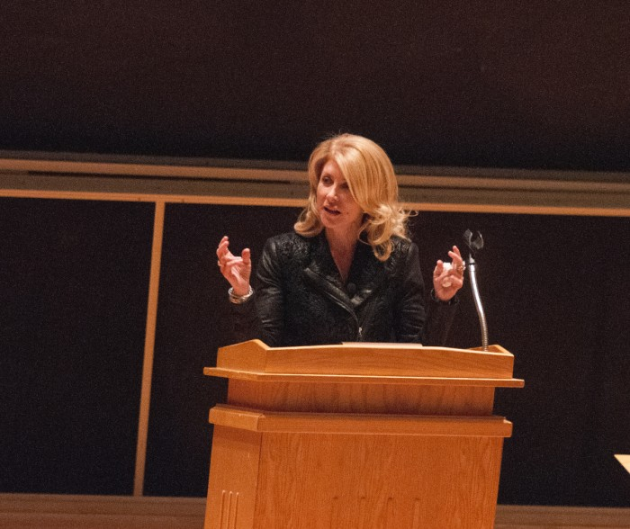 20160404, 20160404, College Democrats, Debartolo, Grace Tourville, lecture, Rising Up- From Single Mother to Harvard Law- How Every Woman Stands to Make a Difference, Senator Wendy Davis