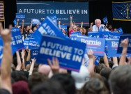 Students attend Bernie Sanders rally