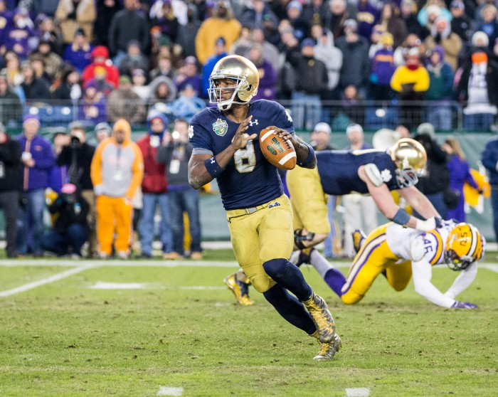 Notre Dame will go with two quarterbacks in opener