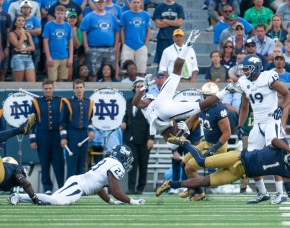 Football: University of Nevada, Win 39-10, Notre Dame Stadium