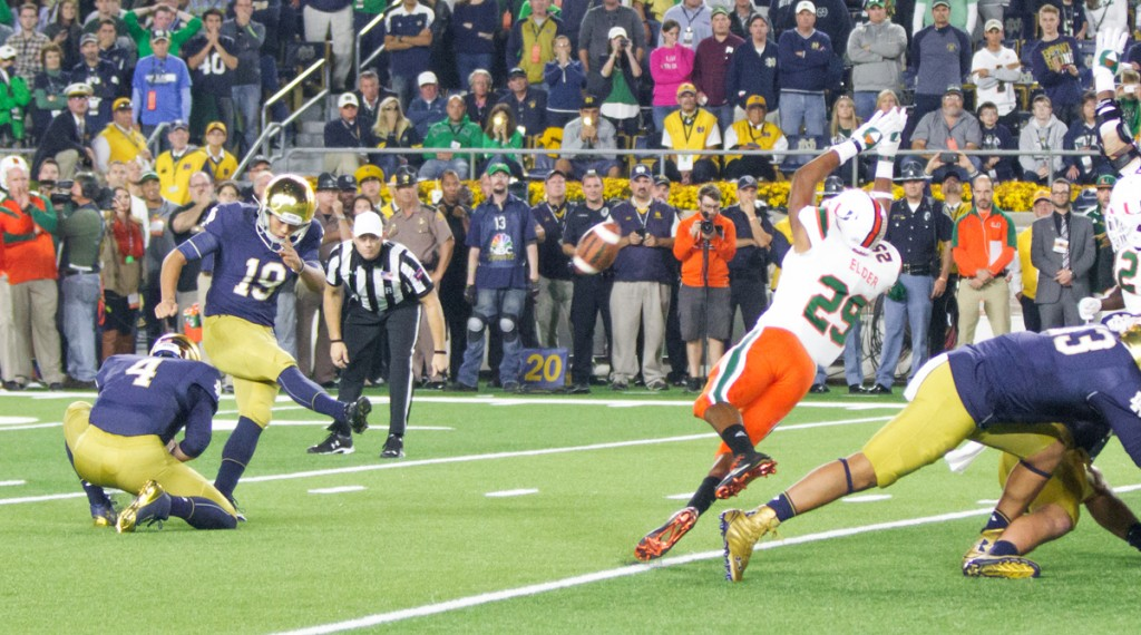 Irish sophomore kicker Justin Yoon gives Notre Dame the lead with just 30 seconds remaining.