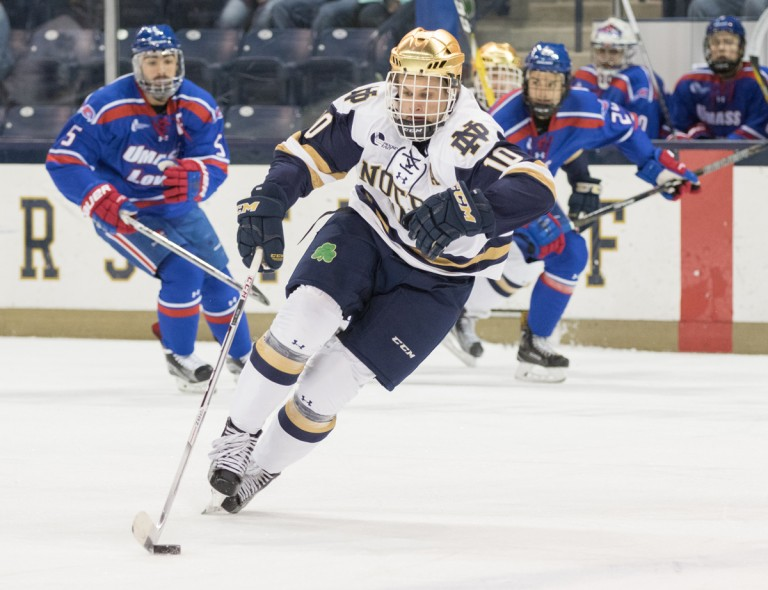 Hockey East: Notre Dame Tops No. 6 UMass Lowell