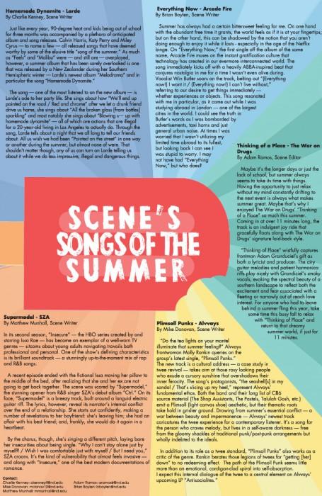 scene summer songs web