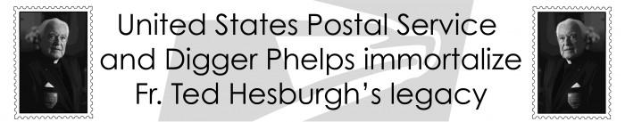 Fr. Hesburgh Stamp Banner
