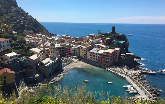 The Italian town of Vernazza, located along the Cinque Terre hiking trail, is one of many places visited by Notre Dame students studying abroad.