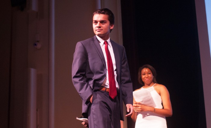 Junior Adam Kulam, a resident of O'Neill Hall, beat 12 other contestants to win the title of Mr. ND.