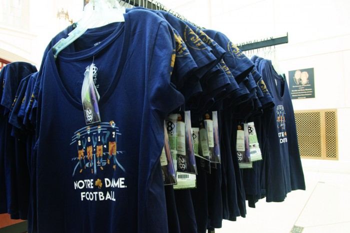 The Shirt committee works year-round to create a design that will appeal to the entire Notre Dame community.