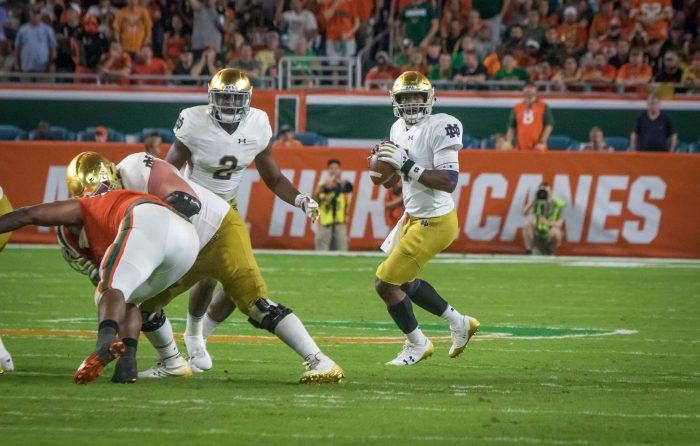 No. 9 Notre Dame turns attention to Navy after loss to Miami