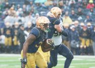 Irish defense holds Navy for win on Senior Day