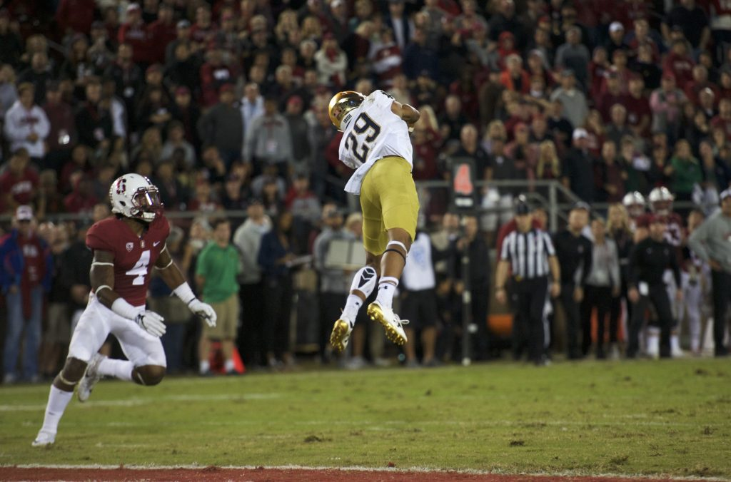 Stanford buries Notre Dame, then earns Pac-12 title game berth