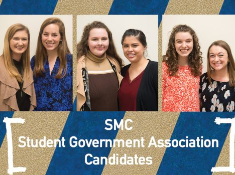 Student Government Association candidates deliver campaign speeches before election